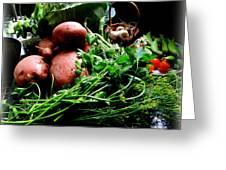 Vegetables. Still Life Greeting Card