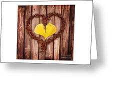 Vegetal Hearts Greeting Card