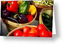 Vegetarian And Organic Farmers Produce Greeting Card