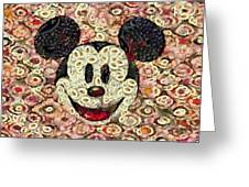Veggie Mickey Mouse Greeting Card