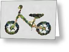 Green Yummy Bike Greeting Card