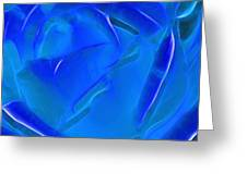 Veil Of Blue Greeting Card