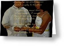 Vein Of Love Poem Greeting Card