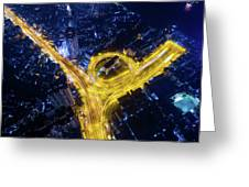 Vein Of The City Greeting Card