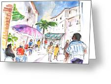 Velez Rubio Market 01 Greeting Card