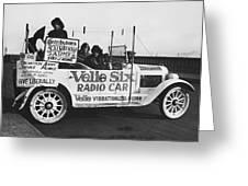 Velie Six Radio Car Greeting Card
