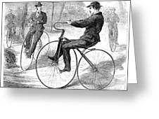 Velocipedes, 1868 Greeting Card