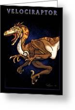 Velociraptor Attack Greeting Card