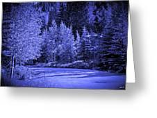Velvet Winter - Vail - Colorado Greeting Card