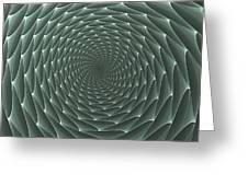 Velveteen Vortex Gray Greeting Card