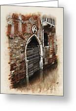 Venetian Door 03 Elena Yakubovich Greeting Card