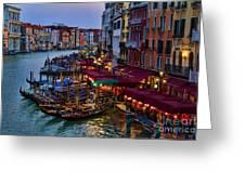Venetian Grand Canal At Dusk Greeting Card