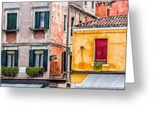 Venetian Houses. Italy Greeting Card