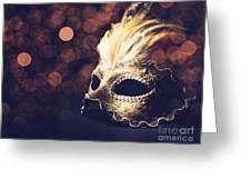 Venetian Mask Greeting Card by Jelena Jovanovic