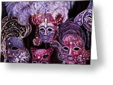 Venetian Masks Greeting Card by Anastasiya Malakhova