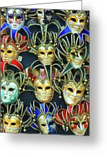 Venetian Opera Masks Greeting Card