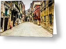 Venetian Street Greeting Card