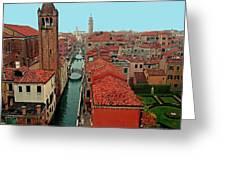 Venetian Street Scene Greeting Card