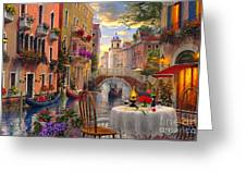 Venice Al Fresco Greeting Card