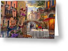 Venice Al Fresco Greeting Card by Dominic Davison