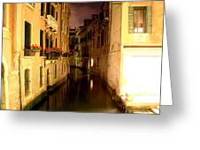 Venice At Night Greeting Card