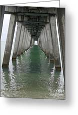 Venice Beach Pier Structure Greeting Card