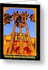 Venice Beach Poster Greeting Card