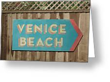 Venice Beach Sign Greeting Card