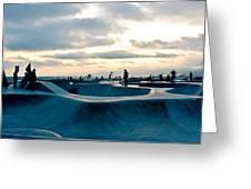 Venice Beach Skate Park Greeting Card