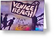 Venice Beach To Santa Monica Pier Greeting Card