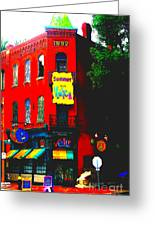 Venice Cafe' Painted And Edited Greeting Card
