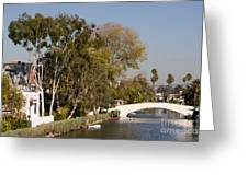 Venice Canal Bridge Greeting Card