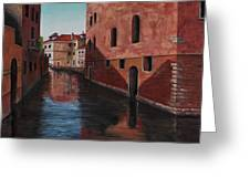 Venice Canal Greeting Card by Darice Machel McGuire