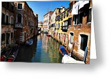 Venice Canal Greeting Card by Bill Cannon