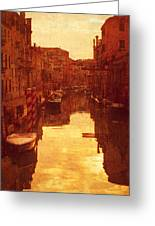 Venice Canal Sunset Greeting Card