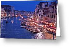 Venice - Canale Grande By Night Greeting Card
