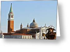 Venice Carnival Bull Greeting Card
