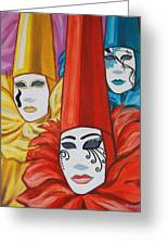 Venice Costumes Greeting Card