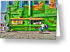 Venice Deli Greeting Card by Kip Krause
