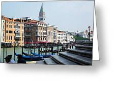 Venice Gondolas On Canal Grande Greeting Card