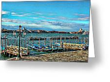 Venice Gondolas On The Grand Canal Greeting Card