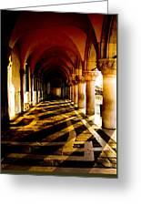 Venice Hallway In The Morning Greeting Card