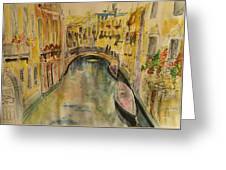 Venice I. Greeting Card by Paula Steffensen