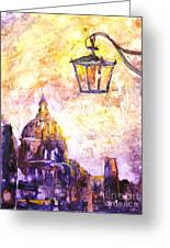 Venice Italy Watercolor Painting On Yupo Synthetic Paper Greeting Card