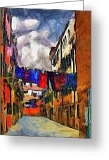 Venice Laundry 2 Greeting Card by Cary Shapiro