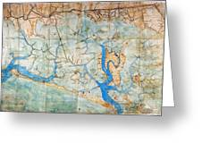 Venice: Map, 1546 Greeting Card