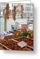 Venice Market Greeting Card