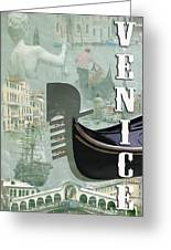 Venice Montage 2 Greeting Card