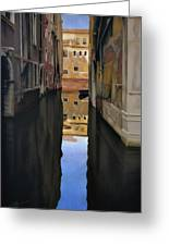 Venice Reflections - Pastel  Greeting Card