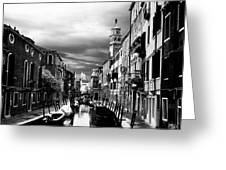 Venice Side Canal Greeting Card